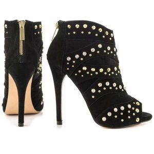 Brand new BEBE Sedova Studded Bling Booties Size 9